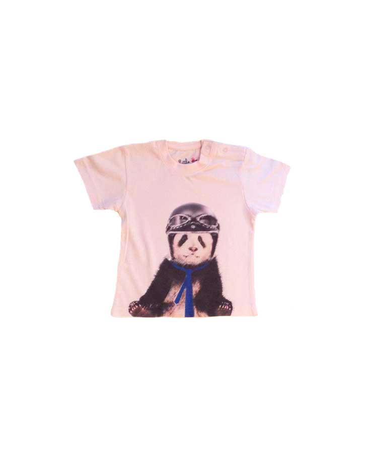 13-T.Shirt Panda Rose