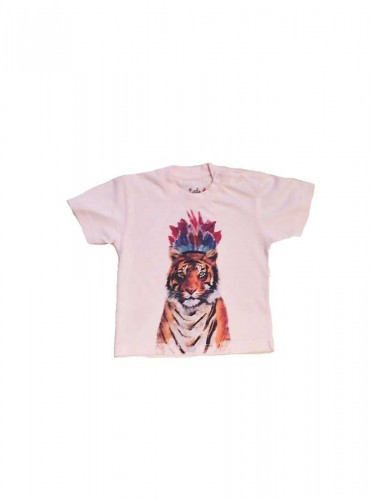 T.Shirt Tigre Rose
