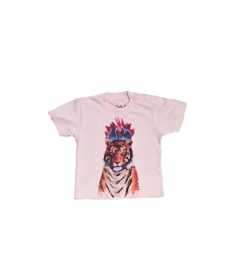 T.Shirt Tigre Rose