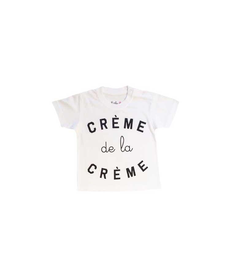 T-Shirt crème de la creme Blanc