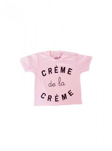 T-Shirt crème de la crème rose bébé