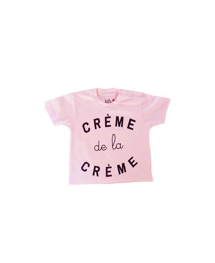 T-Shirt crème de la crème rose