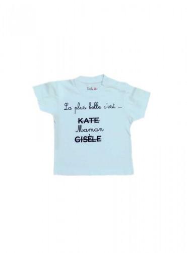 14-T-Shirt maman Ciel