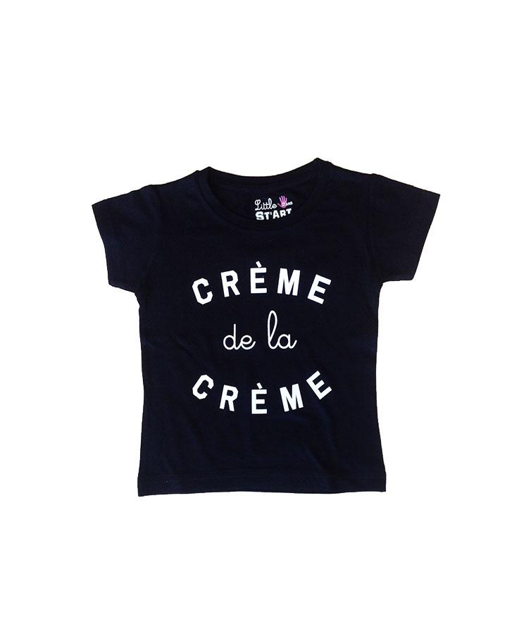 T-shirt crème de la crème enfant noir