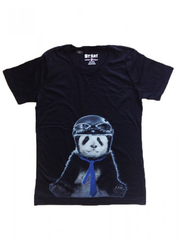 tshirt panda, t-shirt homme